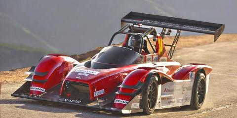 Electric Mitsubishi MiEV Evolution III finishes second overall at Pikes Peak