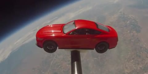 2015 Ford Mustang goes to space ... kind of