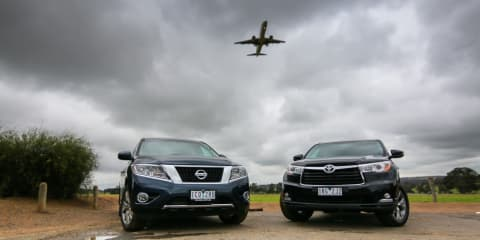 Nissan Pathfinder Hybrid v Toyota Kluger V6 : Comparison review