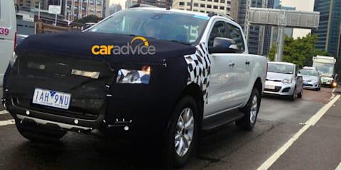 2015 Ford Ranger spied in Sydney