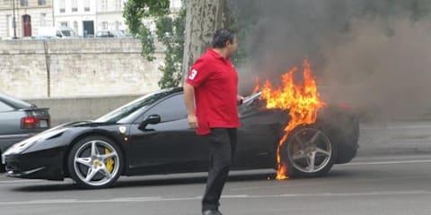 Ferrari 458 Italia fires spark Ferrari investigation