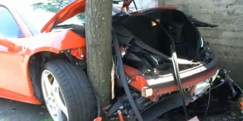 Ferrari F458 crashes the day after leaving factory