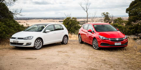 Holden Astra RS-V v Volkswagen Golf 110TSI comparison