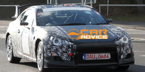 Toyota FT-86 racecar spy photos