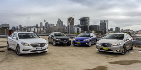 Medium Sedan Comparison : Toyota Camry v Mazda 6 v Hyundai Sonata v Subaru Liberty