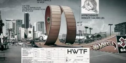 Hot Wheels X Games six-storey double loop stunt