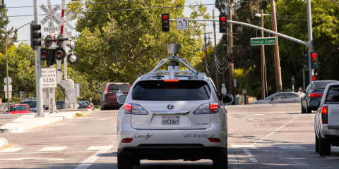 Google self-driving cars gain new city features - bicycle avoidance, railway crossing monitor added