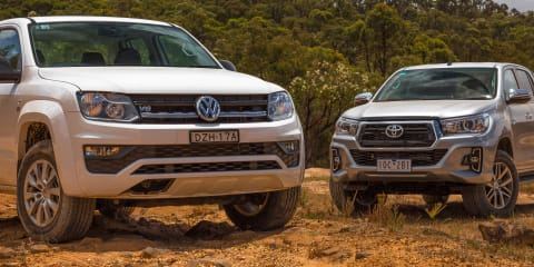 2019 Toyota HiLux SR5 v Volkswagen Amarok Core V6 comparison: Off-road