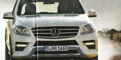 2012 Mercedes-Benz ML-Class images leaked