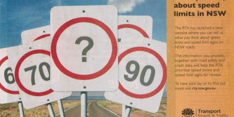 RTA Speed Zones and Speed Signs up for Review