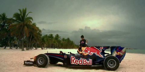 Red Bull Formula 1 at the beach official video