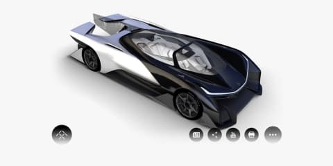 Faraday Future EV concept: self-driving hypercar leaked