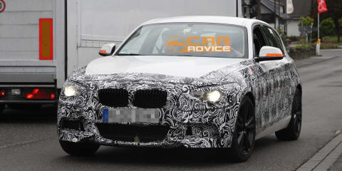 2012 BMW 1 Series M pack spy shots