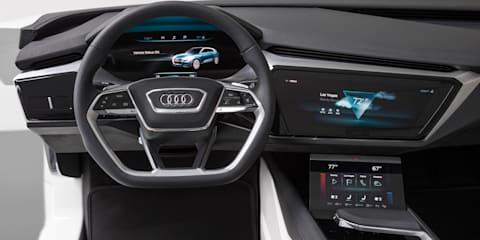 Audi e-tron quattro concept's OLED interior displayed at CES