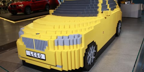 BMW X1 Lego scale model built for charity