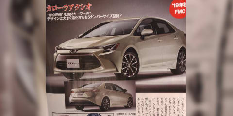 2019 Toyota Corolla sedan previewed by Japanese leaks