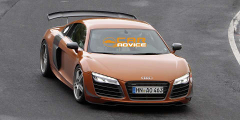 Audi R8 GT spied on track