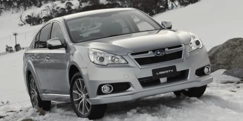 Subaru Liberty X: high-riding sedan added to updated 2013 range
