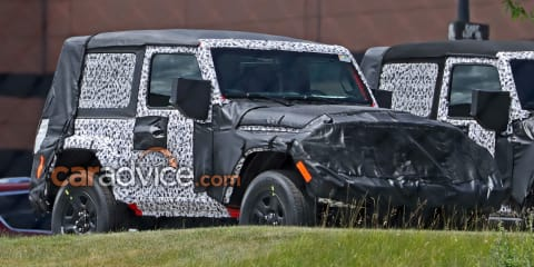 2018 Jeep Wrangler two-door spied