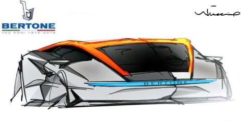 Bertone Nuccio concept previewed before Geneva unveiling