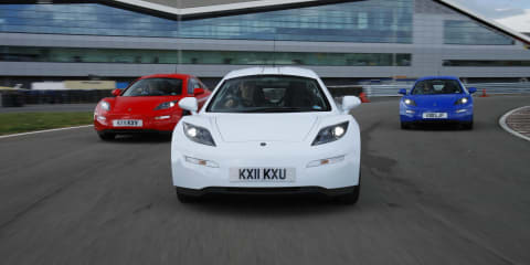 Delta E-4 Coupe EV sports car launched at Silverstone