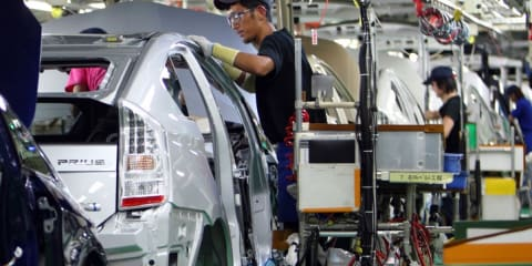 Toyota hybrid production resumes in Japan