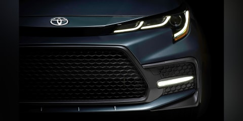2019 Toyota Corolla sedan front end teased