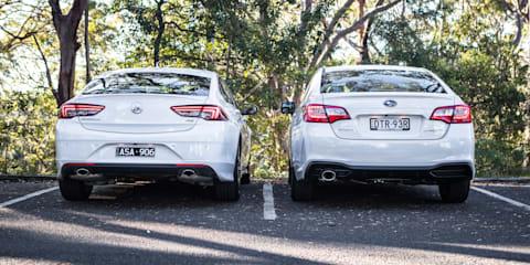 2018 Holden Commodore RS Liftback v Subaru Liberty 2.5i Premium sedan comparison