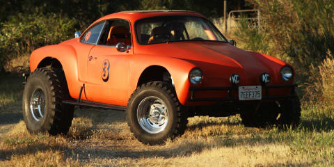 Volkswagen Karmann Ghia on stilts!