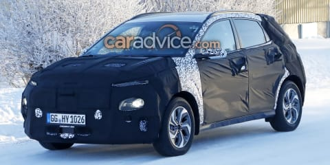 2019 Hyundai Kona hybrid spied inside and out