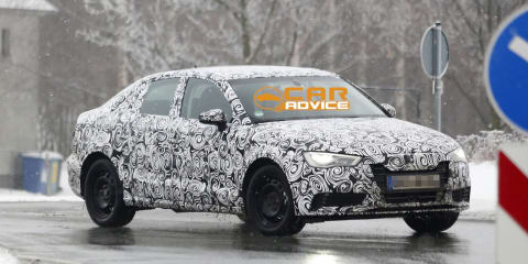 Audi A3 sedan: four-door CLA rival spied