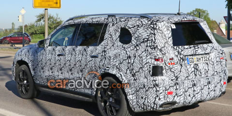 2019 Mercedes-Benz GLS spied with less camouflage