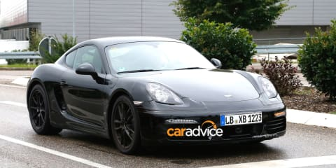 2016 Porsche Cayman spy photos