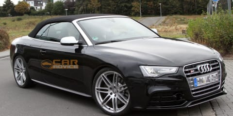 Audi RS5 Cabrio spy photos