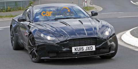 Aston Martin DB11 spied at the Nurburgring