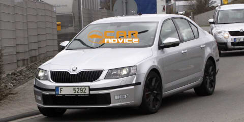 Skoda Octavia RS: Czech sports sedan spied