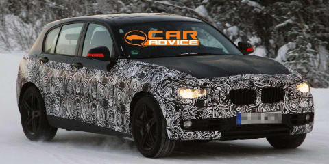 2012 BMW 1 Series in black spy shots