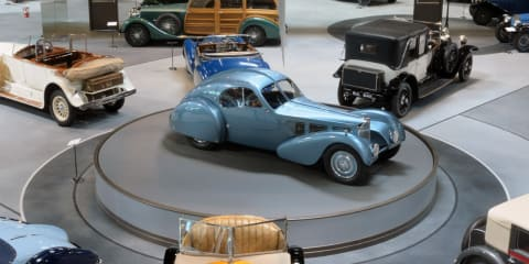 1937 Bugatti Type 57SC Atlantic aka the world's most expensive car is on display
