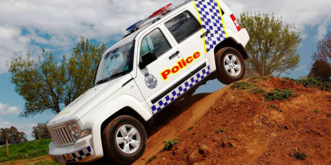 Victoria Police head off-road in the Jeep Cherokee