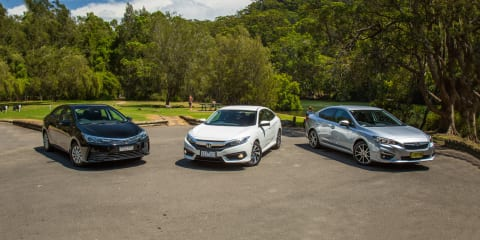 Small sedan comparison: Toyota Corolla Ascent v Honda Civic VTi-S v Subaru Impreza 2.0i-L