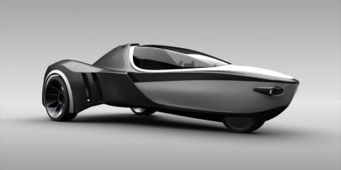 Manta amphibious three-wheeler concept