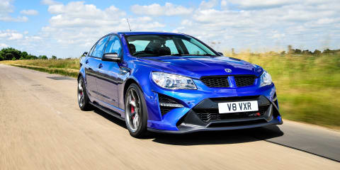 HSV GTSR arrives in UK; looks weird with Pommy plates on it