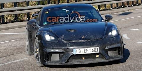 2018 Porsche 718 Cayman GT4 spied
