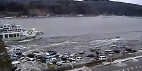 Video: Japan earthquake tsunami footage showing intense force
