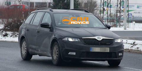 Skoda Octavia wagon: base, RS models spied