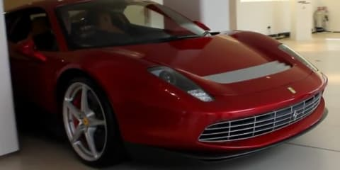 Eric Clapton's one-off Ferrari SP12 EPC caught on video