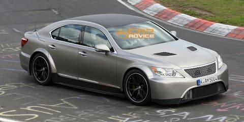 Lexus LS track mule spy shots