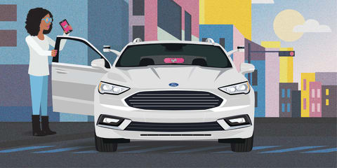 Ford and Lyft to roll out autonomous taxi fleet