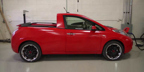 Nissan Leaf Sparky ute engineered with bits of Navara, Titan