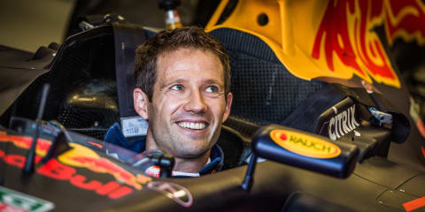 Sebastien Ogier trades WRC for F1 and drives Vettel's old Red Bull RB7
